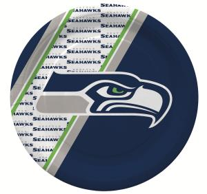Duckhouse NFL Seattle Seahawks 20-Pack Disposable Paper Plates - Sports Butler