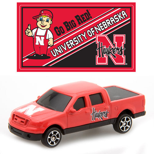 Upper Deck Diecast F150 with Mascot Sticker - NCAA University of Nebraska - Sports Butler