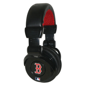 Ihip MLB Pro Dj Headphones With Microphone - Boston Red Sox - Sports Butler