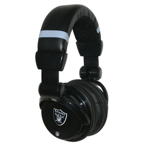 Ihip Pro Dj Headphones With Microphone - Oakland Raiders - Sports Butler