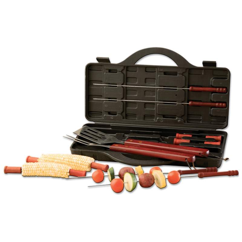 Chefmaster™ 15pc Stainless Steel Barbeque Set - Sports Butler