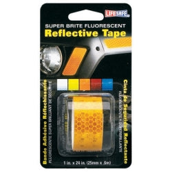 "Fluorescent Reflective Tape, Super Brite Yellow, 1"" x 24"" Roll, Provides Long Distance Visibilty - Sports Butler"
