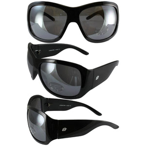 Birdz Lorikeet Womens Glasses with Gloss Black Frames and Dark Smoke Lenses - Sports Butler
