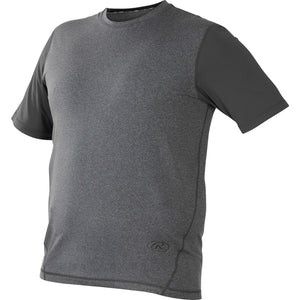 Rawlings Hurler Performance Shrt Slv Shirt Dark Gray Large - Sports Butler
