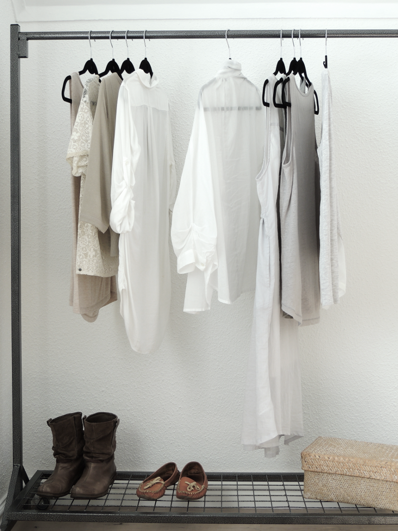 Industrial Clothing Rail - With Shoe Rack