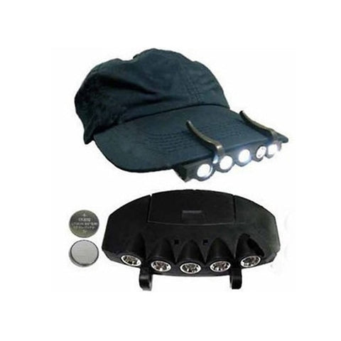 Cap Light Clip on Hat LED Headlight Fishing Hiking Camping