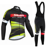 Winter TEAM pro cycling bike pants suit