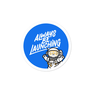Always Be Launching (#ABL) EON Sticker in Blue
