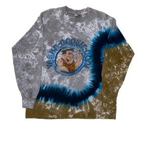 Stoned Flintstone Tie Dye Long Sleeve T-Shirt