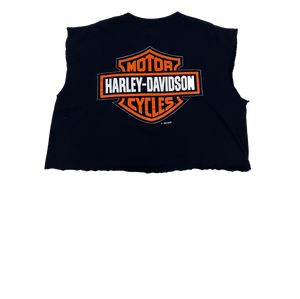 Harley Davidson Motor Cycles Flame Crop T Shirt