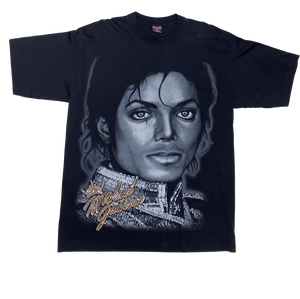 Bedazzled Michael Jackson Face Tee