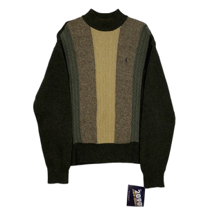 YSL Sweater (Olive/Brown/Tan)