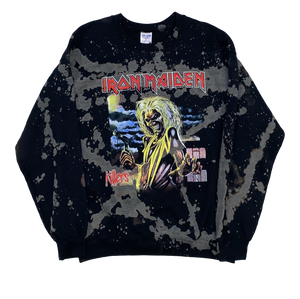 Iron Maiden Bleached Wash Crew Neck