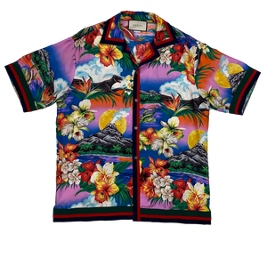 Gucci Silk Floral Print Button Down