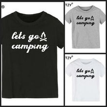 "Load image into Gallery viewer, Kids ""Lets Go Camping"" Tee"