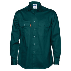 Cotton Drill Work Shirt - Long Sleeve - 3202