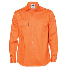 Load image into Gallery viewer, Cotton Drill Work Shirt - Long Sleeve - 3202