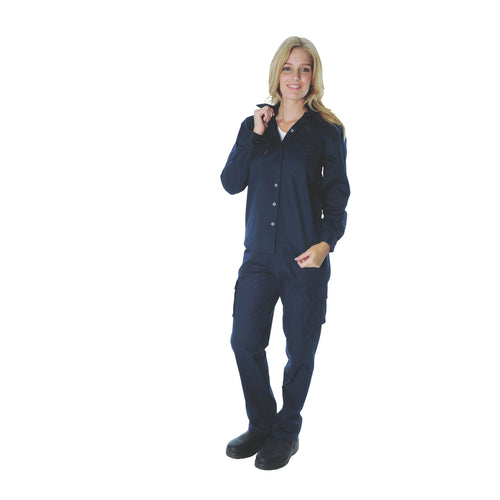 Ladies Cotton Drill Work Shirt - Long Sleeve - 3232