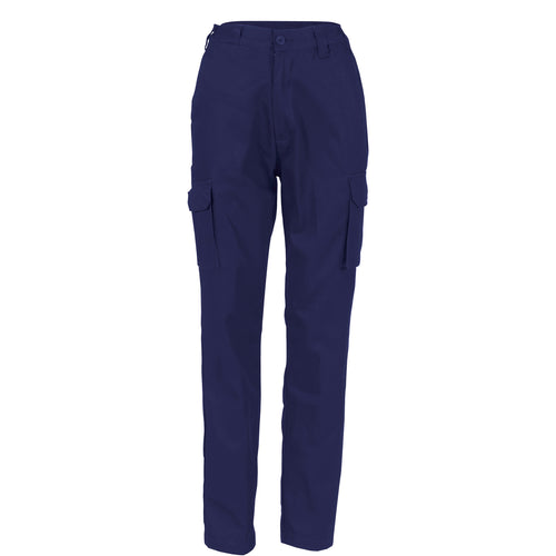 Ladies Cotton Drill Cargo Pants - 3322