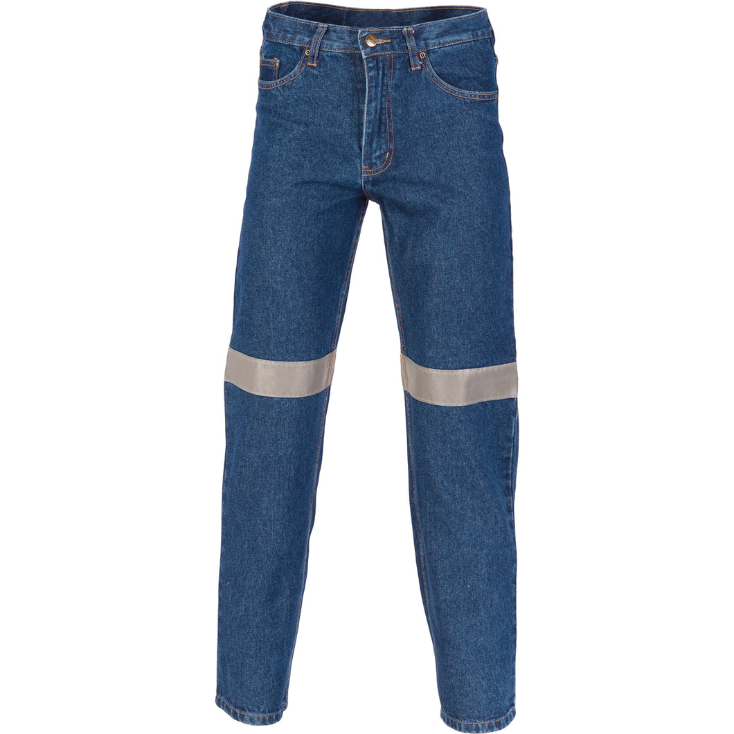 Taped Denim Stretch Jeans - 3347