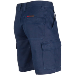 Middle Weight Cotton Double Slant Cargo Shorts - With Shorter Leg Length - 3358