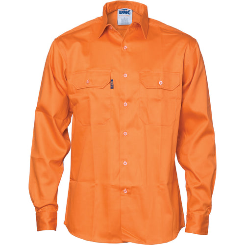 Patron Saint® Flame Retardant Drill Shirt, Long Sleeve - 3402