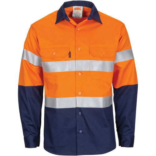 Paton Saint Flame Retardant 2 Tone Cotton Shirt with 3M F/R Tape - L/S - 3409