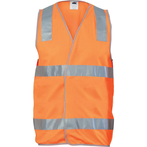 Day/Night Safety Vest with Hoop & Shoulder Generic R/Tape - 3503
