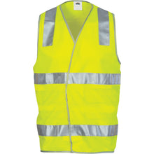 Load image into Gallery viewer, Day/Night Safety Vest with Hoop & Shoulder Generic R/Tape - 3503