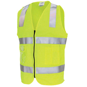 Day/Night Side Panel Safety Vest with Generic R/Tape - 3507