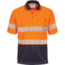 Load image into Gallery viewer, HIVIS Segment Taped Mircomesh Polo - Short Sleeve - 3511