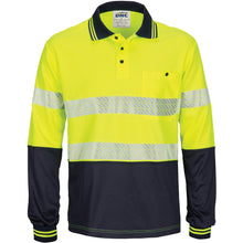 Load image into Gallery viewer, HIVIS Segment Taped Mircomesh Polo - Long Sleeve - 3513