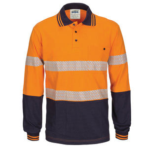 HIVIS Segment Tape Cotton Jersey Polo - Long Sleeve - 3516