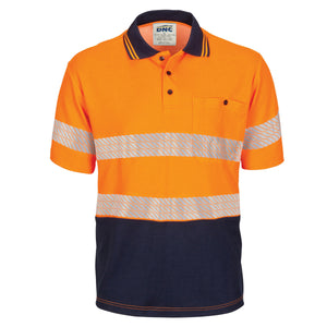 HIVIS Segment Taped Cotton Backed Polo - Short Sleeve - 3517