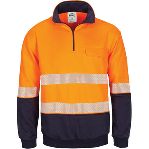 HIVIS Segment Taped 1/2 Zip Fleecy Windcheater - 3529