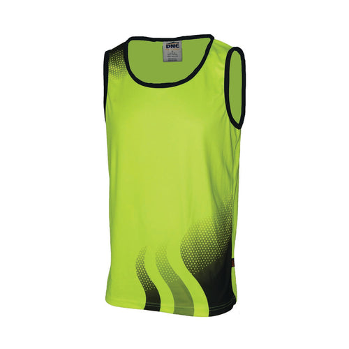 WAVE HIVIS SUBLIMATED SINGLET - 3561