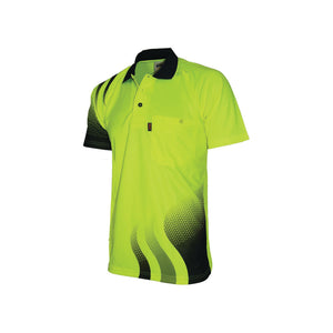 WAVE HIVIS SUBLIMATED POLO - 3563