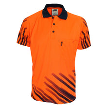 Load image into Gallery viewer, HiVis Sublimated Full Stripe Polo - 3566
