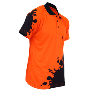 Hivis Sublimated Blot Polo - 3567