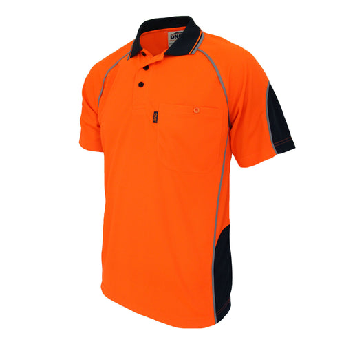 Hi-Vis Semicircle-piping Polo - 3569