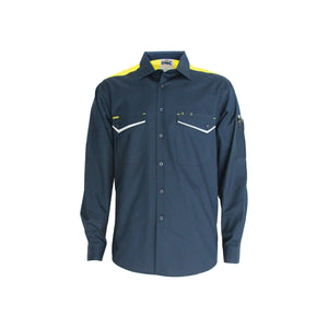 RipStop Cool Cotton Tradies Shirt, L/S - 3582
