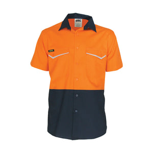 Two-Tone RipStop Cotton Cool Shirt, S/S - 3585