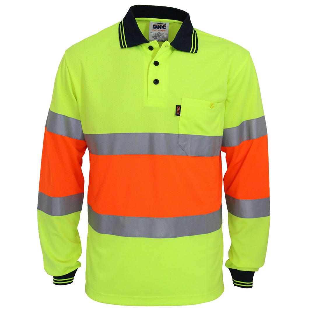Hi-Vis Cool-dry 2T Bio-motion D/N Polo - 3709