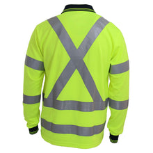 "Load image into Gallery viewer, Hi-Vis ""X' Back & Bio-motion Taped Polo - 3710"