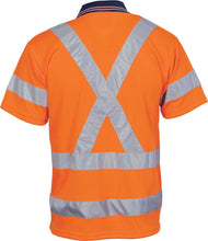 Load image into Gallery viewer, HiVis D/N Cool Breathe Polo Shirt with Cross Back R/Tape - Short Sleeve - 3712