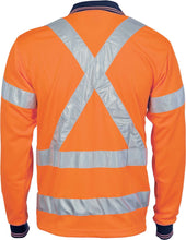 Load image into Gallery viewer, HiVis D/N Cool Breathe Polo Shirt with Cross Back R/Tape - Long Sleeve - 3714