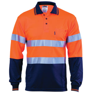 HiVis D/N Cool Breathe Polo Shirt With CSR R/Tape - Long Sleeve - 3716