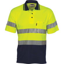 Load image into Gallery viewer, Hi Vis Two Tone Cotton Back Polos with Generic R.Tape - short sleeve - 3717