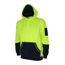 Load image into Gallery viewer, Hivis 2 tone super fleecy hoodie - 3721