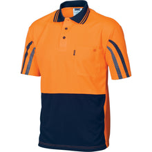 Load image into Gallery viewer, HiVis Cool-Breathe Printed Stripe Polo - Short Sleeve - 3752